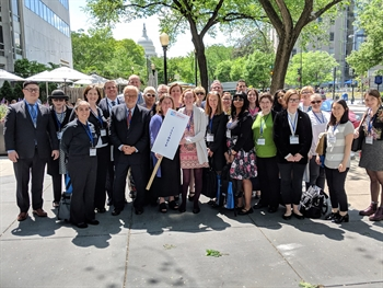 Illinois delegation at National Library Legislative Day 2018